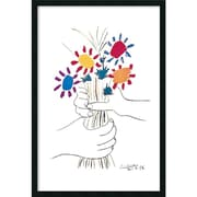 "Amanti Art Pablo Picasso ""Hands With Bouque"" Framed Art, 37.38"" x 25.38"""