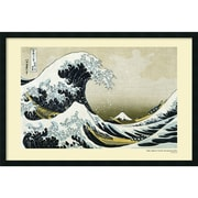 "Amanti Art Katsushika Hokusai"" The Great Wave off the Coast..."" Framed Print Art, 25.38"" x 37.38"""