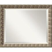 "Amanti Art 22.88"" x 18.88"" Argento Medium Wall Mirror, Champagne"