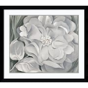 "Amanti Art Georgia O'Keeffe ""The White Calico Flower, 1931"" Framed Art, 33.38"" x 38.38"""
