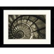 "Amanti Art Christian Peacock ""Spiral Staircase in Arc de Triomphe"" Framed Print Art, 19.62"" x 25.5"""