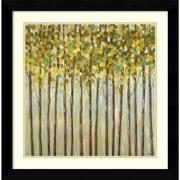 "Amanti Art Libby Smart ""Different Shades of Green"" Framed Print Art, 26.62"" x 26.62"""