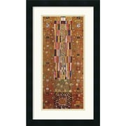 "Amanti Art Gustav ""Pattern For The Stoclet Frieze, c.1905-06, End Wall"" Framed Print Art, 24"" x 14"""
