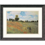 "Amanti Art Claude Monet ""Poppies at Argenteuil, 1873"" Framed Art, 16 3/4"" x 21 1/4"""