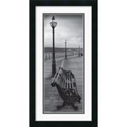 "Amanti Art ""Bench on the Boardwalk"" Framed Print Art, 26"" x 14"""