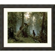 "Amanti Art Ivan Ivanovich Shishkin ""Morning in a Pine Forest"" Framed Animal Art, 32.38"" x 38.38"""
