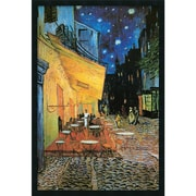 "Amanti Art Vincent Van Gogh ""Cafe Terrace At Night, 1888"" Framed Print Art, 37.38"" x 25.38"""
