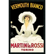 "Amanti Art Marcello Dudovich ""Martini & Rossi"" Framed Art, 37.38"" x 25.38"""