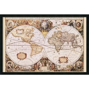 "Amanti Art Henricus Hondius ""Map Of The World"" Framed Art, 25.38"" x 37.38"""