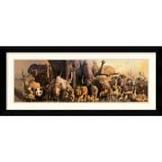 "Amanti Art Haruko Takino ""Noah's Ark"" Framed Animal Art, 18.88"" x 42.62"""