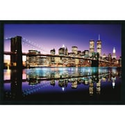 "Amanti Art ""Brooklyn Bridge - Color"" Framed Print Art, 25.38"" x 37.38"""