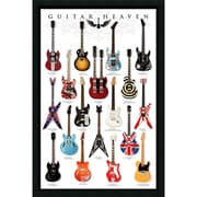 "Amanti Art ""Guitar Heaven"" Framed Print Art, 37.38"" x 25.38"""