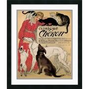 "Amanti Art Theophile Alexandre Steinlen ""Clinique Cheron"" Framed Print Art, 26"" x 22"""