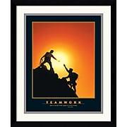 "Amanti Art ""Teamwork (Climbers)"" Framed Print Art, 18.12"" x 15.12"""