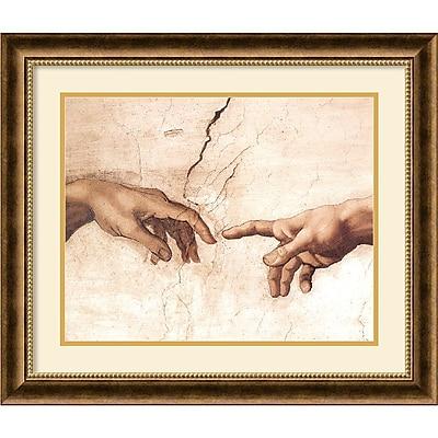 """""Amanti Art Michelangelo Buonarroti """"""""The Creation of Adam (Detail I)"""""""" Framed Art, 23 3/4"""""""" x 27 3/4"""""""""""""" 966701"