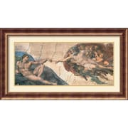 "Amanti Art Buonarroti ""The Creation of Adam, C.1508 - 12"" Framed Print Art, 25 1/2"" x 45 1/2"""