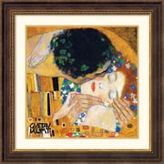 "Amanti Art Gustav Klimt ""The Kiss (Der Kuss), Detail 1"" Framed Print Art, 28 1/2"" x 28 1/2"""