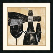 "Amanti Art Daphne Brissonnet ""Wine Selection I"" Framed Print Art, 25"" x 25"""