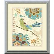 "Amanti Art Daphne Brissonnet ""Eastern Tales Birds II"" Framed Animal Art, 20"" x 17"""