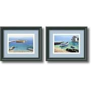 "Amanti Art Frane Mlinar ""Peaceful Morning"" Framed Print Art Set, 9.46"" x 11.46"""