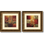 "Amanti Art Jill Deveraux ""Orchids"" Framed Print Art Set, 16.72"" x 16.72"""