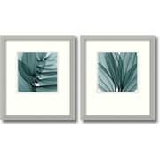 """Amanti Art Steven N. Meyers """"Silver Lilies"""" Framed Print Art Set, 16.68"""" x 14.68"""""""