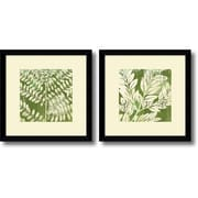 "Amanti Art Erin Clark ""Leaves"" Framed Print Art Set, 13.12"" x 13.12"""