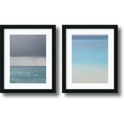 "Amanti Art Brian Leighton ""Bleu"" Framed Print Art Set, 22"" x 18"""