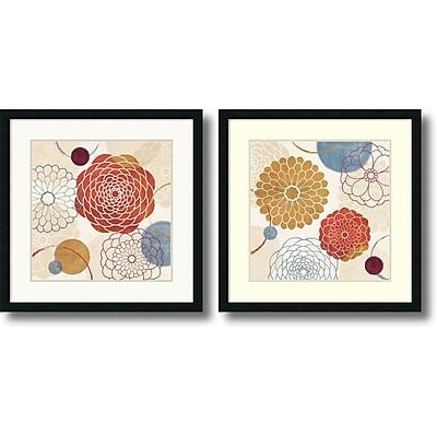 """""Amanti Art Veronique Charron """"""""Abstract Bouquet"""""""" Framed Print Art Set, 26"""""""" x 26"""""""""""""" 967288"