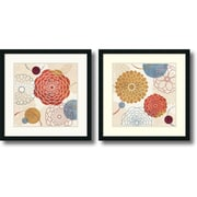 "Amanti Art Veronique Charron ""Abstract Bouquet"" Framed Print Art Set, 26"" x 26"""