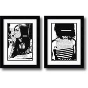 "Amanti Art Amanti Art John Clark ""Her Story"" Framed Art Set, 25.49"" x 19.37"""