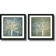 """Amanti Art Erin Clark """"Tranquil Forest"""" Framed Print Art Set, 22"""" x 22"""""""