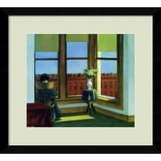 "Amanti Art Edward Hopper ""Room in Brooklyn"" Framed Print Art, 14.12"" x 15.62"""