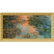 "Amanti Art Claude Monet ""The Water-Lily Pond, 1917-19"" Framed Art, 22.88"" x 42.62"""