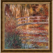 "Amanti Art Claude Monet ""The Water-Lily Pond, 1900"" Framed Art, 27.12"" x 27.12"""