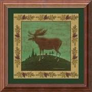 "Amanti Art Warren Kimble ""Folk Moose"" Framed Animal Art, 14"" x 14"""