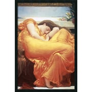 "Amanti Art Lord Frederic Leighton ""Flaming June"" Framed Print Art, 37.38"" x 25.38"""