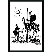 "Amanti Art Pablo Picasso ""Don Quixote"" Framed Art, 37.38"" x 25.38"""