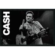 """Amanti Art """"Johnny Cash - Finger"""" Framed Art, 25.38"""" x 37.38"""""""