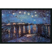 "Amanti Art Vincent Van Gogh ""Starlight Over the Rhone"" Framed Print Art, 25.38"" x 37.38"""