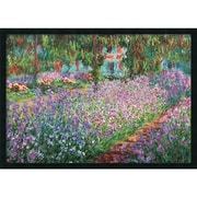 "Amanti Art Claude Monet ""Le Jardin de Monet a Giverny"" Framed Art, 25.38"" x 37.38"""