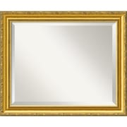 "Amanti Art 23.38"" x 19.38"" Colonial Medium Wall Mirror, Gold"