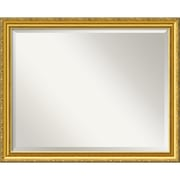 "Amanti Art 31.38"" x 25.38"" Colonial Large Wall Mirror, Gold"