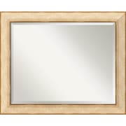 "Amanti Art 33"" x 27"" Highland Park Large Wall Mirror, Rustic Cream/Gold"
