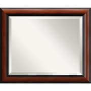 "Amanti Art 24"" x 20"" Regency Medium Wall Mirror, Black"