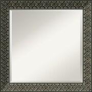 """Amanti Art 24.38"""" x 24.38"""" Intaglio Square Wall Mirror, Black"""