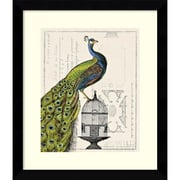 "Amanti Art Sue Schlabach ""Peacock Birdcage I"" Framed Animal Art, 28.62"" x 24.62"""