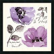 "Amanti Art Pela Studio ""Floral Waltz Plum II"" Framed Art, 24"" x 24"""