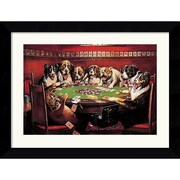 "Amanti Art C.M. Coolidge ""Poker Sympathy"" Framed Animal Art, 20.62"" x 26.62"""