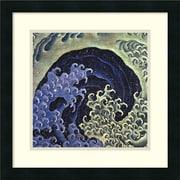 """Amanti Art Katsushika Hokusai """"Feminine Wave"""" Framed Print Art, 18"""" x 18"""""""